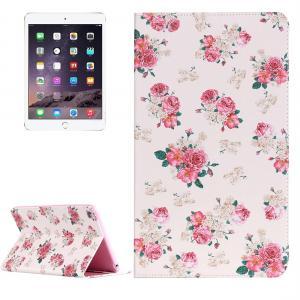 Fodral för iPad mini 4 - Vit med rosa blommor