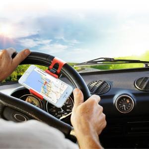 Mobilhållare som fästes i bilens ratt - Haweel