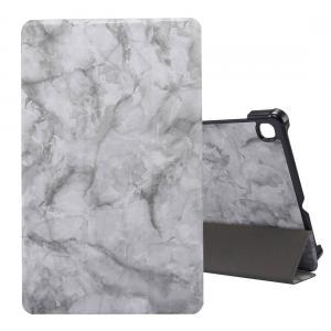 Fodral för Galaxy Tab S6 Lite P610/P615 med marmormönster grå
