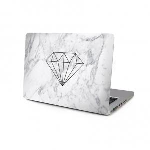 Skin för för Macbook 12-tum - Marmor Diamond vit