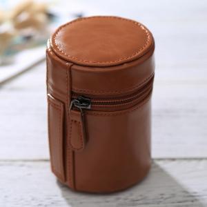 Objektivfodral PU-läder - brun