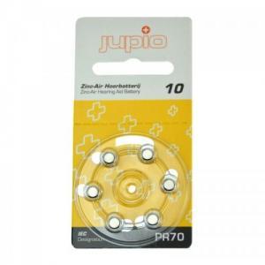 Jupio hörapparatsbatteri 10 Gul - 6st/förpackning