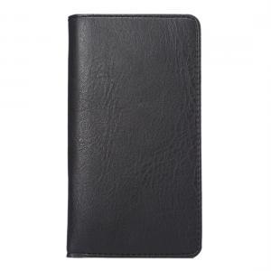 Universalt plånboksfodral av PU-läder 4,8 tum (svart)