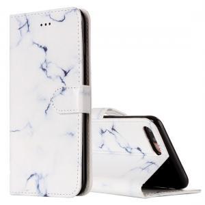 Plånboksfodral för iPhone 7 Plus & 8 Plus - Marmor vit