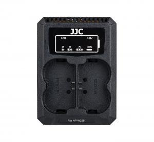JJC USB-driven dubbel batteriladdare för Fujifilm NP-W235