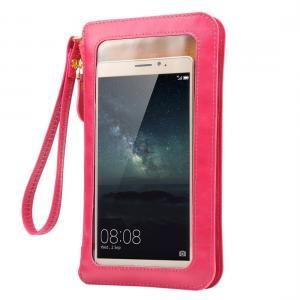 Universal mobilväska med touch screen (Magenta)