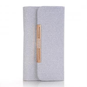 Glittrigt plånboksfodral för iPhone X/XS - Med axelkedja