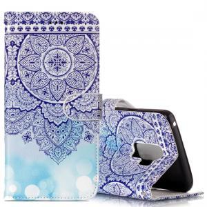 Plånboksfodral för Galaxy S9 - Mandalablomma blå