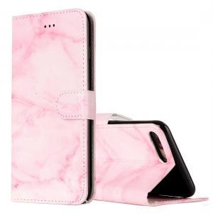Plånboksfodral för iPhone 8P/7P - Rosa marmor