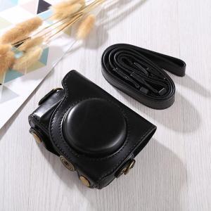 Kameraväska av PU-läder med rem för Canon G9X / G9X II