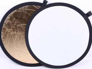 Reflexskärm Guld & Vit