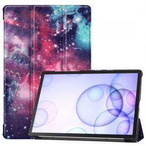 Fodral för Galaxy Tab S6 T860 / T865 med rymdmönster