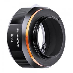 K&F Concept Objektivadapter Pro till Pentax K objektiv för Fujifilm X kamerahus