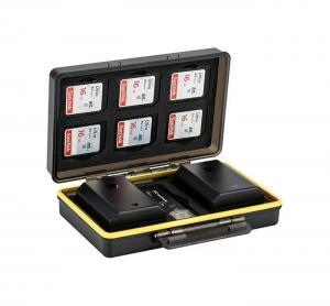 JJC Batteri & minneskortask 6xSD olika batterimodeller