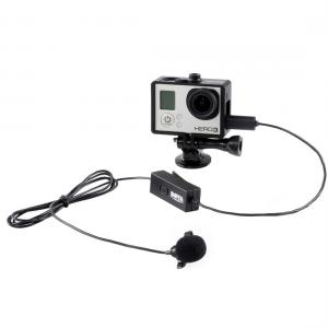 Boya Lavaliermikrofon med med klämma för GoPro