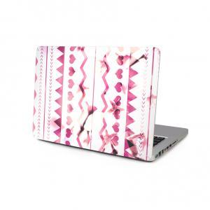 Skin för för Macbook 12-tum - Rosa aztecmönster