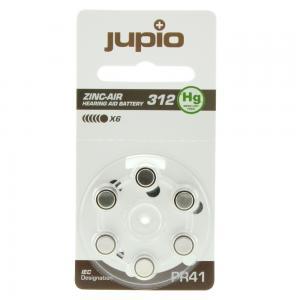 Jupio hörapparatsbatteri 312 Brun - 6st/förpackning