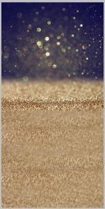 Vinylbakgrund 1.5x3.0m - Glitter Guld & Svart