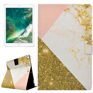 Fodral för iPad Pro 10.5-tum - Marmor glitter rosa, vit & guld