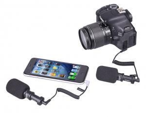 CoMica Videomikrofon [För: kamera, Smartphone, DJI] med riktningskondensor