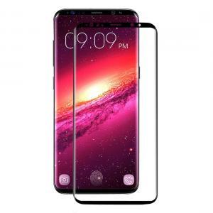 Displayskydd med svart ram för Samsung Galaxy S9 Plus av härdat glas