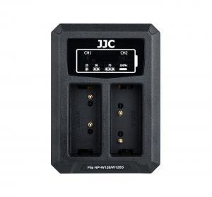 JJC USB-driven dubbel batteriladdare för Fujifilm NP-W126