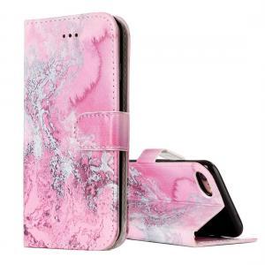 Plånboksfodral för iPhone 8/7 - Rosa vågmönster