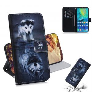 Plånboksfodral för Huawei Mate 20 Pro - Hund till Varg