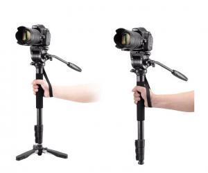 Enbensstativ med videohuvud & fötter 145cm 5kg - Weifeng