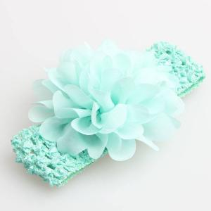 Pannband fluffig blomma - Mintgrön