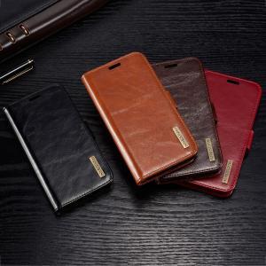 DG.MING för iPhone X - Flipfodral med avtagbart skal äkta läder