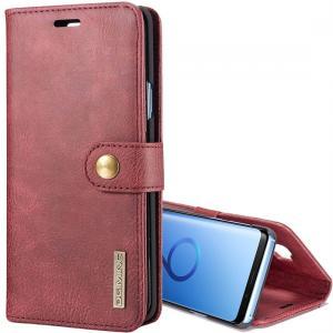 DG.MING för Galaxy S9 Plus - Plånboksfodral med magnetskal