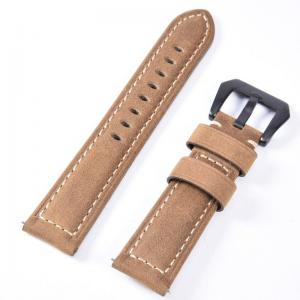Läderarmband för Huawei Watch GT / Watch 2 Pro - Ljusbrun