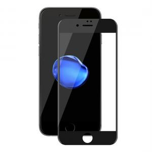 Displayskydd med svart ram för iPhone 7/8 av härdat glas