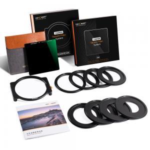 K&F Concept 100mm Filter-Kit ND1000 & Filterhållare med 8x adapterringar