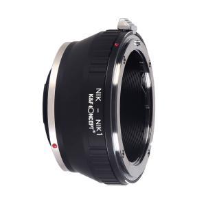 K&F Objektivadapter till Nikon F objektiv för Nikon 1 kamerahus