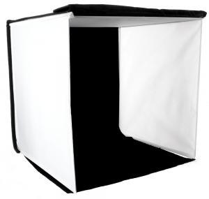 Ljustält kvadrat för produktfoton (Bakgrunder: svart, vit, röd, blå)