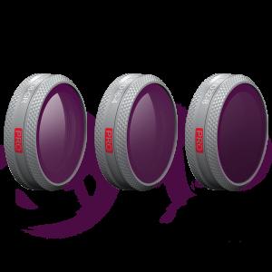 PGYTECH GND-Filter (3 i 1) kit för MAVIC 2 ZOOM: GND8, GND16, GND32