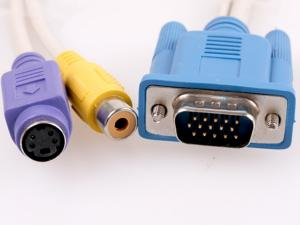 VGA hane - S-Video RCA adapter