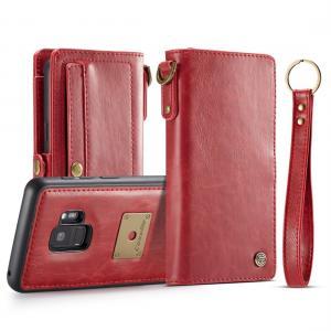 CaseMe för Galaxy S9 - Plånboksfodral med skal PU-läder