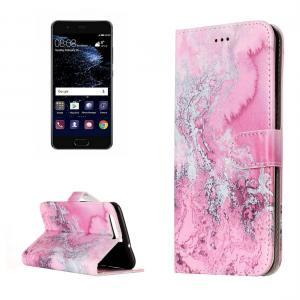 Plånboksfodral för Huawei P10 - Rosa med kortplatser och sedelfack