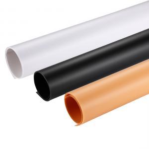 PULUZ 3st färger PVC Pappersbakgrund 120x60cm (svart, vit, gul)