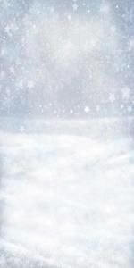 Vinylbakgrund 1.5x3m - Snö med stjärnor