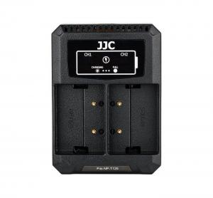 JJC USB-driven dubbel batteriladdare för Fujifilm NP-T125