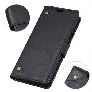 Plånboksfodral för Moto E5/ Moto G6 Play - Svart marmormönster