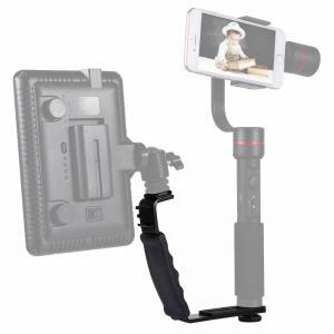 PULUZ L-format Handgrepp med tillbehörsfästen för videolampa, DSLR