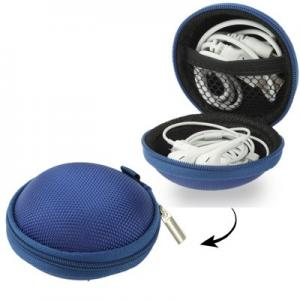 Hörlursväska nylon - Mörkblå