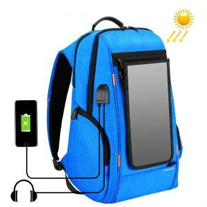 HAWEEL 15.6-tum Laptopryggsäck 7W Solpanel med extern USB-laddningsport (Blå)