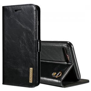 DG.MING för iPhone 7/8 Plus - Flipfodral med avtagbart skal äkta läder