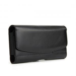 Universal 5,6 tum midjeväska - 2 i 1 plånbok & mobilfodral (svart)